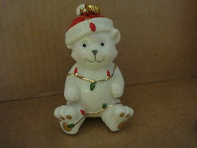 Lenox Very Merry Porcelain Teddy Bear Ornament ( New In Box )