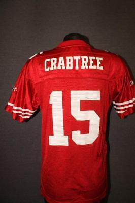 c351e0461 Authentic SAN FRANCISCO 49ERS Reebok Youth LARGE nfl football Jersey  CRABTREE