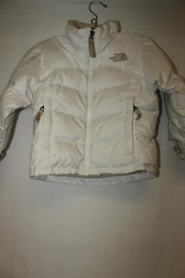 THE NORTH FACE Girls size XXS white GOOSE DOWN FEATHERS Jacket 600