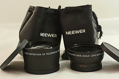 Neewer Digital High Def. 2X Telephoto And Super Wide Angle + Macro Camera Lens