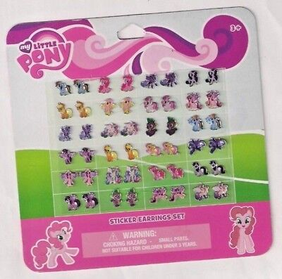 24 pairs stick on earrings MY LITTLE PONY party bag gift temporary stickers