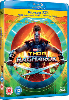 Thor Ragnarok 3D [3D + 2D Blu-ray Region Free, Hemsworth, Marvel Super Heroes]