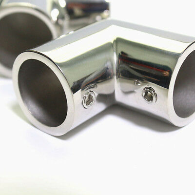 """Boat Hand Rail Fitting 90Degree 7/8"""" Elbow 316 Marine Stainless Steel Polished J"""