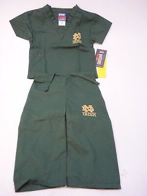GelScrubs Kids Unisex Medical Scrub Set Shirt & Pants 6709 Notre Dame Logo
