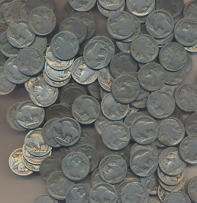 Buffalo Nickels - Large No Dates Lot Of 150 Coins - Lot Kk