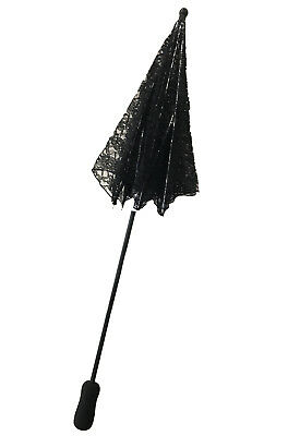 Victorian Lace Parasol Umbrella Costume Accessory (Black)