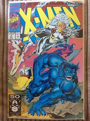 X-Men Vol 1 #1 Oct. 1991. !st. Issue  Marvel Comics comic book With Backer