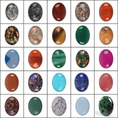 40mm Large Oval cabochon CAB flatback semi-precious gemstone Pick ur stone 1.5""