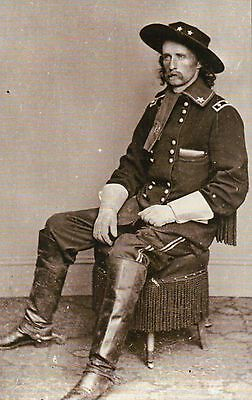 General George Armstrong Custer United States Federal Army -- Civil War Postcard