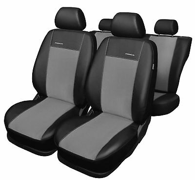 Seat Altea 5P YR 2004-2016 Tailored Measure Covers Artificial Leather Black Grey