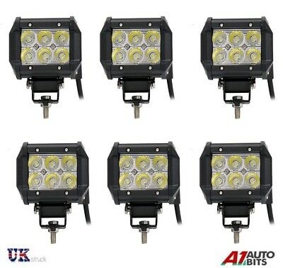 6x 18W Cree LED Work Light Bar Spot Light Offroad Car Truck Jeep ATV 4WD 12V/24V