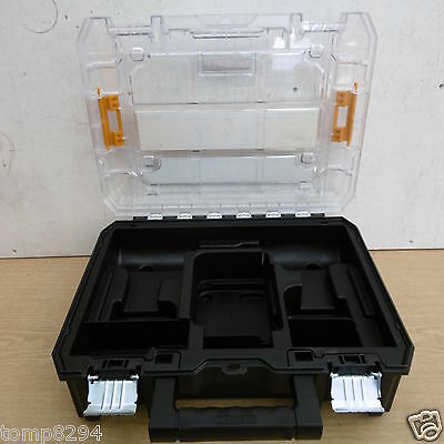 Dewalt Tstak 10.8V Dck211D2T  Dcf815 Dcd710 Clear Lid Storage Carrying Case