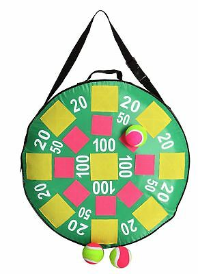 Inflatable Target Dart Board Toss With Balls Childrens Party Toy Fun Garden Game