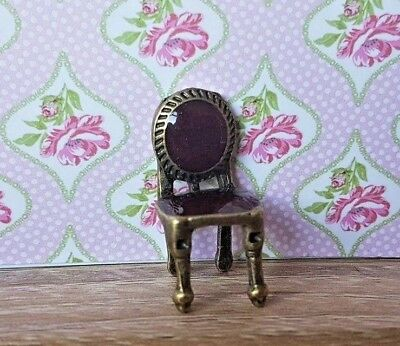 CHAIR for a  1:48th scale dolls house bronze & enamel vintage period furniture