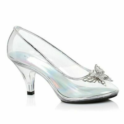 635a8232459 Clear Glass Slippers Cinderella Costume Shoes Disney Princess Bridal Heels  9 10