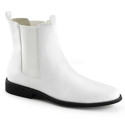 White Storm Trooper Star Wars Costume Cosplay Ankle Boots Shoes Mens 11 12 13 14