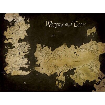 Pyramid International Game Of Thrones Westeros And Essos Antique Map Canvas -
