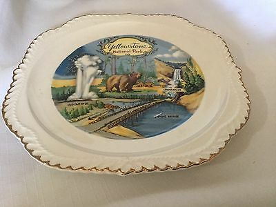 "Collectable Souvenir 8"" Plate. Yellowstone National Park"