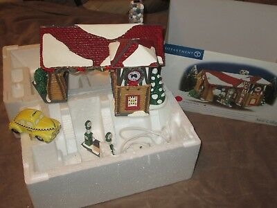 Christmas Time DEPT 56 LAST STOP GAS STATION & A TAXI