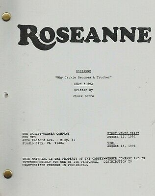 Roseanne 1991 TV Series Original Script Show #502 Why Jackie Becomes A Trucker