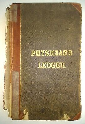 ANTIQUE HANDWRITTEN VERMONT MEDICAL BOOK Bill Wilson Alcoholics Anonymous RARE