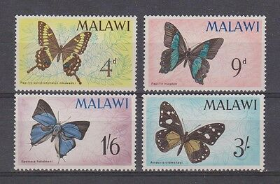 MALAWI  37-40 Butterfly set 1966 mint.