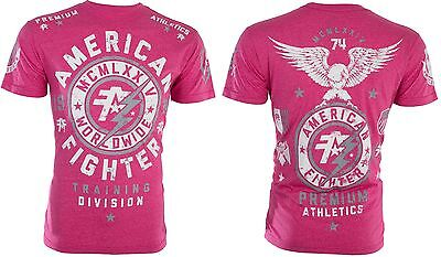 AMERICAN FIGHTER Mens T-Shirt MADISON Eagle PINK Athletic Biker Gym MMA UFC $40