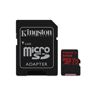 Kingston Canvas React 64 GB microSDXC Speicherkarte Kit (80 MB/s, A1, V30)