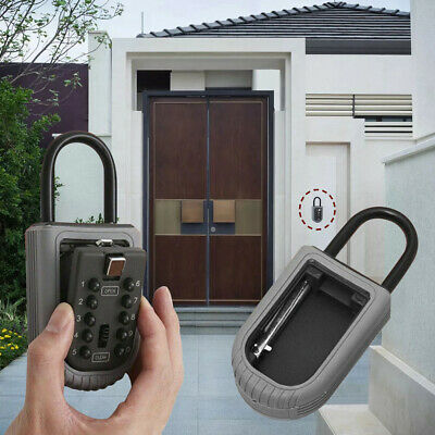 10-Digit Combination Lock Key Safe Storage Box Padlock Security Home Outdoor