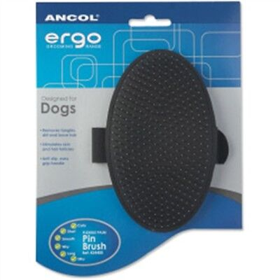 Ancol Ergo Palm Pin Brush For Terriers - Dog Grooming Products Comb