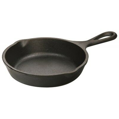 Lodge 12.7cm / 5 Inch Heat-treated Pre-seasoned Cast Iron Mini Round Skillet /