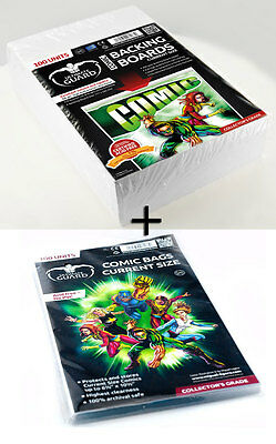 100 COMIC BACKING BOARDS CURRENT 171 x 266 mm + 100 pochettes