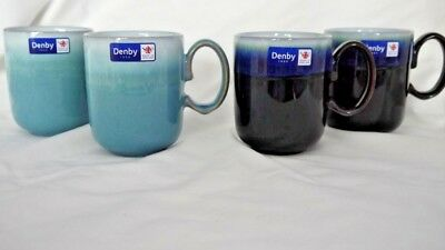 DENBY STONEWARE MUG AZURE DOUBLE DIP or JET/IMPERIAL DOUBLE DIP BRAND NEW