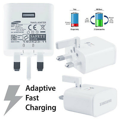® Genuine Original Samsung Galaxy Adaptive Fast Quick Rapid Charger Plug Only
