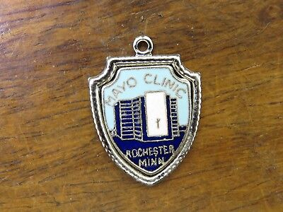 Vintage silver MINNESOTA STATE ROCHESTER MAYO CLINIC TRAVEL SHIELD charm #2