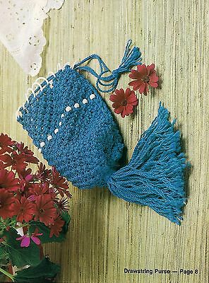 Drawstring Purse Pattern - Rare Craft Book: #906 Macrame for Today's Beginner