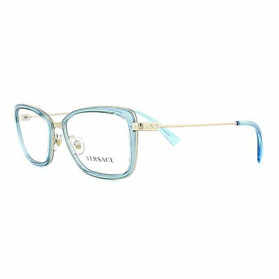 472bbb0dc678 VERSACE GLASSES FRAMES 1244 1406 Orange Transparent and Pale Gold ...