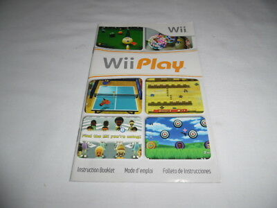 manual only wii fit nintendo wii game manual only 2 69 picclick rh picclick com wii play manual wii play instruction manual