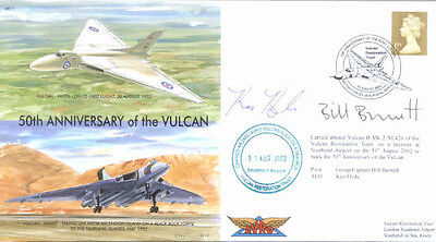 CC43g Avro Vulcan Red Arrows RAF cover FDC signed LORD TEBBIT PC CH