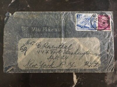1949 Berlin Germany Dual Censored Over Cover To New York Usa