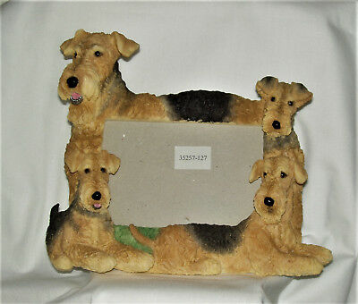 Airedale Terrier  Picture Frame with 4 Airedales