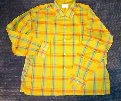 VTG 70s MENS HIPSTER MATT ANDREWS VAL PRESS LONG SLEEVE DRESS SHIRT XL NIP