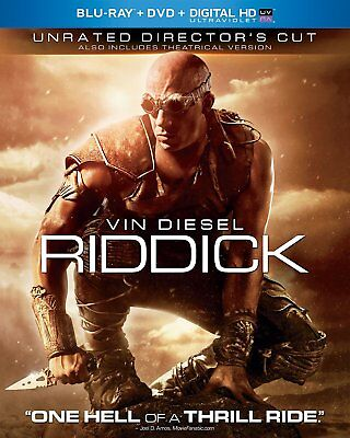 Riddick (Unrated Director's Cut + Digital + Ultraviolet) [Blu-ray] NEW!