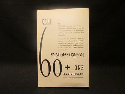 Smallman & Ingram 60+1 Anniversary London in the 1800s & 1938 Advertisment