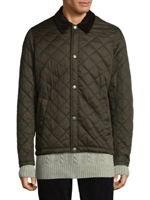 Barbour Men's Olive Green Holme Quilted Lightweight Jacket $249