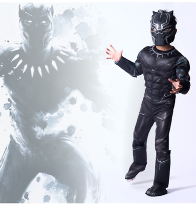 Kids Boy Black Panther  Cosplay Party Superhero Book Week Fancy Dress Costume