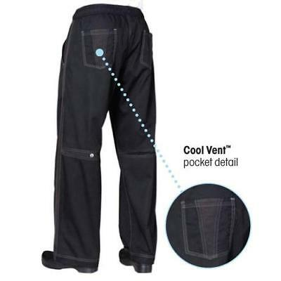 Chef Works Cool Vent Baggy Chef Pants - Black - All Sizes
