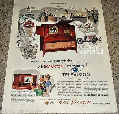 1949 RCA VICTOR Television Radio Phonograph Model  8TV321 AD