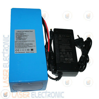 Batteria a Litio per Bici Elettrica Scooter 36V 37V 10AH Discarge 30A CHARGER