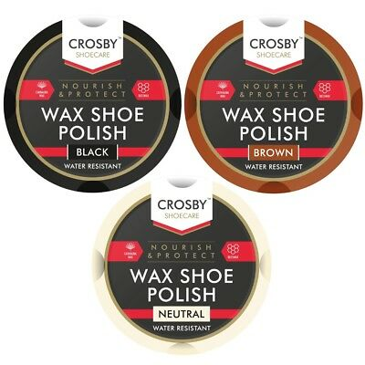 50ml Traditional Crosby Boot Shoe Wax Beeswax Water Resistant Polish